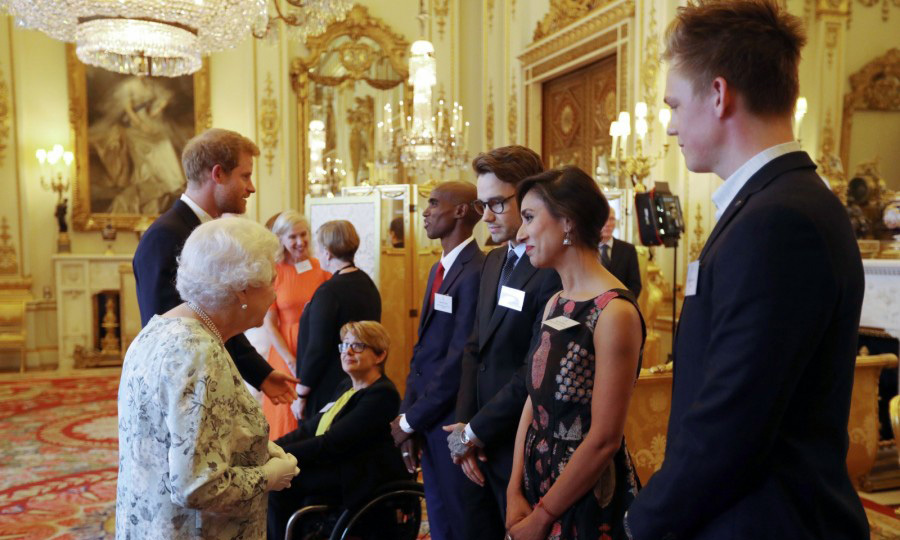 Former One Direction band member Liam Payne met Queen Elizabeth and Prince Harry at a reception for the Queen's Young Leaders Awards ceremony held at Buckingham Palace.