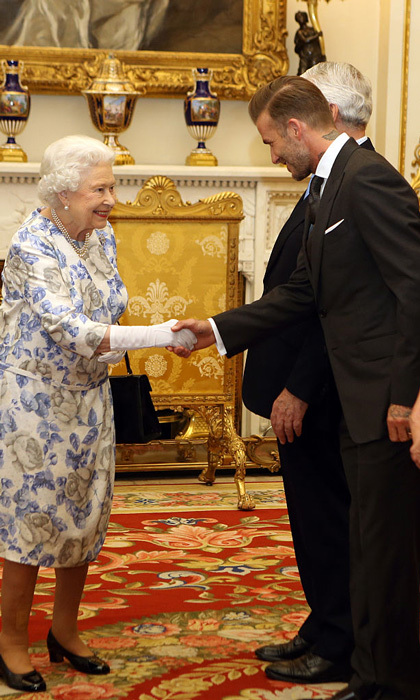 David Beckham has been in the presence of Queen Elizabeth several times. The most recent was in June 2016 when he was a part of the Queen's Young Leaders Awards.