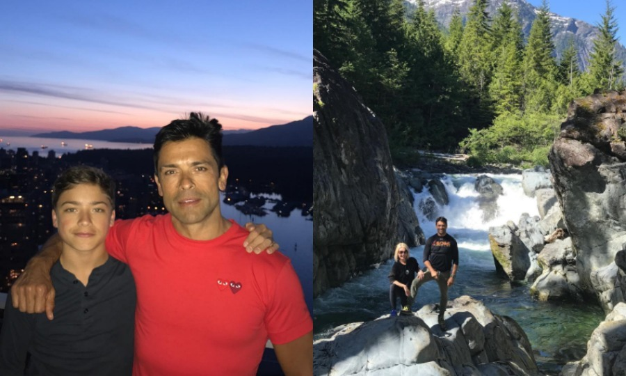 "After celebrating their son Joaquin's middle school graduation in mid-June, Kelly Ripa and Mark Consuelos traveled to Vancouver with their high school-bound son. Alongside a photo of her husband and their youngest child (Joaquin), the TV personality wrote, ""No filters necessary when it comes to #vancouver nights!""