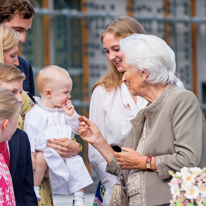 The royal tot, who is the daughter of Prince Amedeo and Elisabetta Maria Von Wolkenstein Rosboch, adorably stole the show at her great-grandmother's 80th birthday celebrations.