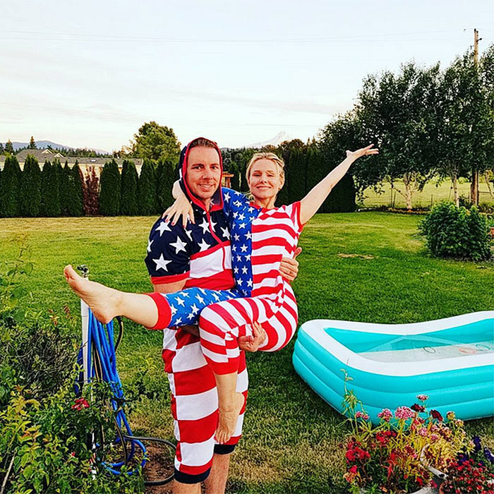 <b>Kristen Bell and Dax Shepard</B>