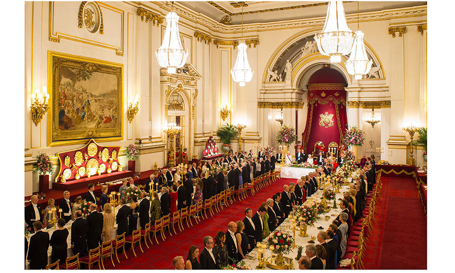 That evening, it was time for a lavish Buckingham Palace state dinner, attended by a host of VIP guests and the royal family, including Prince Harry – taking part in a state visit for the first time.