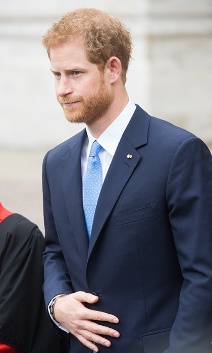 Earlier that day, Prince Harry joined the Spanish royals for a visit to Westminster Abbey.