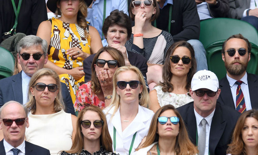The Middletons spent the day as a family with Michael, Carole, Pippa and James sitting together. 