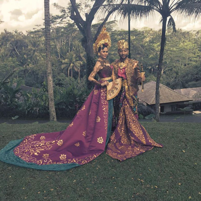 "Chrissy and John Legend jetted to Bali for some R&R with their daughter. Along with a photo of the couple dressed in stunning traditional attire, she wrote: ""We had the most beautiful, wonderful time in Bali. Como Shambhala, my body and mind have never felt so clear. Thank you for getting me to move again (first time since I was 8 months pregnant and Luna is ummmm 15 months old) and giving me some much-needed body and nutrition schooling! And thank you for dressing us in your beautiful, traditional ceremonial costumes! And don't worry, everyone. I still love me some .99 two tacos. Balance! #notbeingpaidtosaythis""