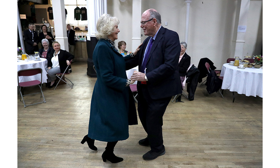 The royal is a big fan of British TV dance competition 'Strictly Come Dancing', and even once visited the show's set. Here, the royal cuts a rug with Arthur Edwards at a Tea Party on her visit of Bristol, England on February 14, 2017.