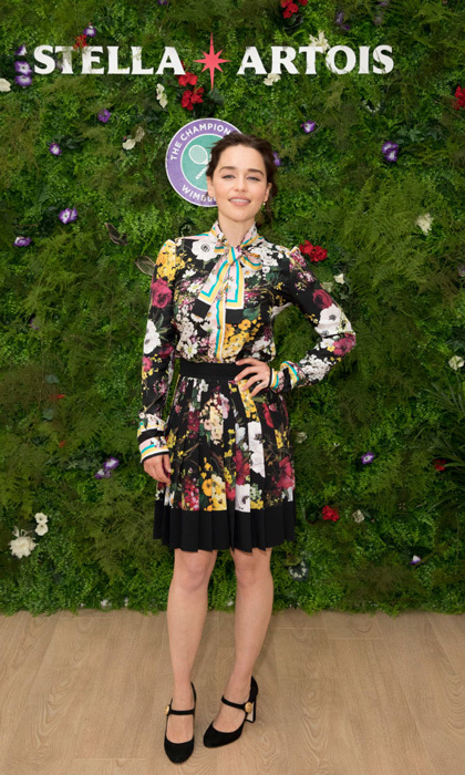 Emilia Clarke wore Dolce & Gabbana to the Wimbledon finals, the same day <i>Game of Thrones</i> returned.