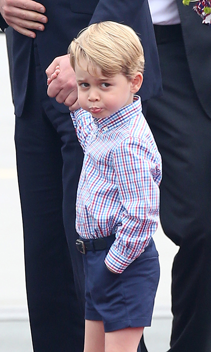 Prince George proved to be a scene-stealer at Trooping the Colour and his aunt Pippa Middleton's wedding – and the trip to Poland and Germany seems no different.