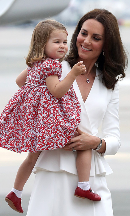 Charlotte and George (not pictured) were set to spend time with their nanny Maria Borrallo while mom and dad tended to royal duties.