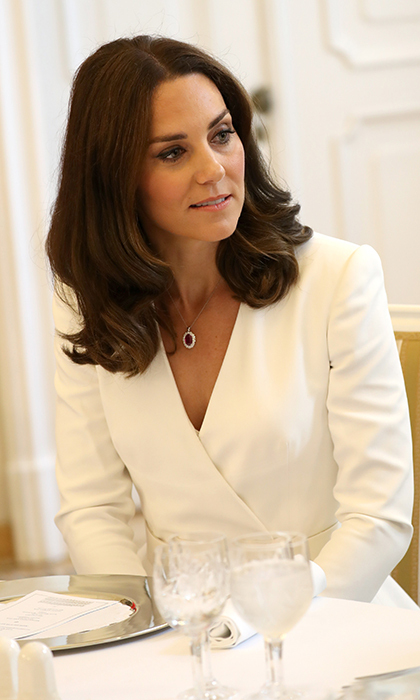 The Duchess of Cambridge – whose recent haircut has been dubbed the 'Kob' – kept her makeup fresh and simple for the occasion.