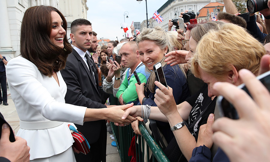 "Huge crowds turned out to greet the royal couple, including student Magda Mordaka, 21, who had a chance to speak with Duchess Kate. She revealed: ""We were telling her that she is beautiful and perfect, but she said it's not true - it's just the makeup.""
