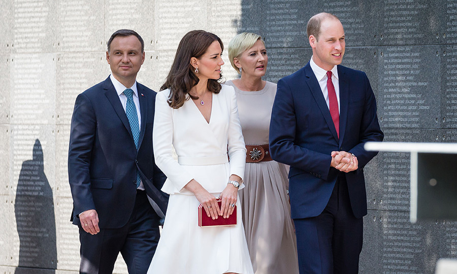 Prince William and Duchess Kate visited the Warsaw Uprising Museum with President Andrzej Duda and his wife Agata. 