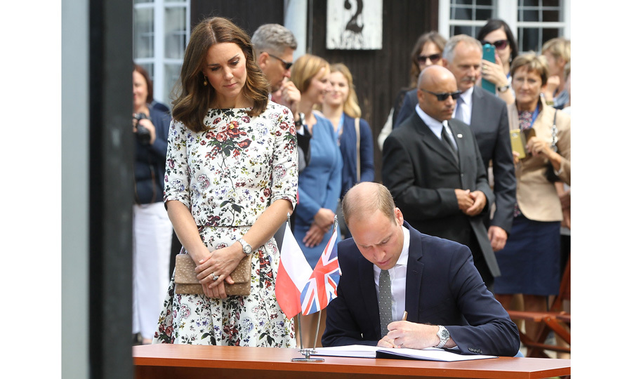 During their visit, the British royals were shown discarded shoes, clothing and other personal items that once belonged to the prisoners. William and Kate were also shown the gas chamber that was used to murder those who were too sick to work. 