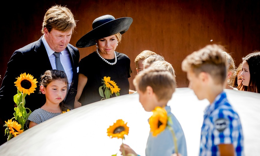 King Willem-Alexander and Queen Maxima of the Netherlands paid their respects at the MH17 remembrance ceremony, where a national monument dedicated to the Malaysia Airlines Flight 17 that was shot down on July 17, 2014 was unveiled.
