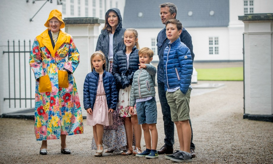 No raining of the Danish royal family's parade! Prince Vincent of Denmark couldn't contain his excitement ahead of the Danish royal family's attendance at the Ringsted Horse Ceremony at Grasten Slot.