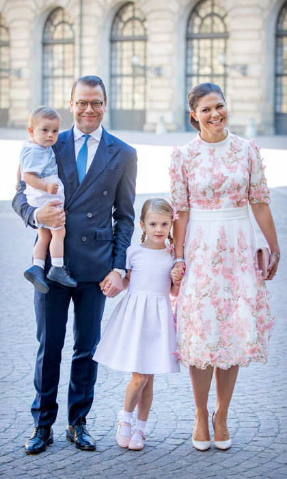 Sweden's Crown Princess Victoria celebrated her 40th birthday on July 14 with her family including husband Prince Daniel, son Prince Oscar and daughter Princess Estelle.