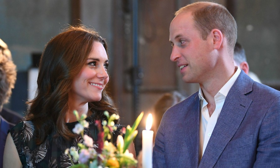 The royals shared a sweet moment during the reception at Claerchens Ballhaus' dance hall in Berlin.