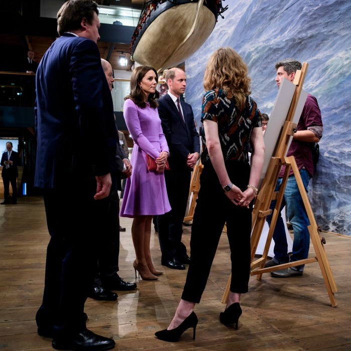 Kate and William along with the mayor of Hamburg celebrated the joint UK-German year of science at the Maritimes Museum.