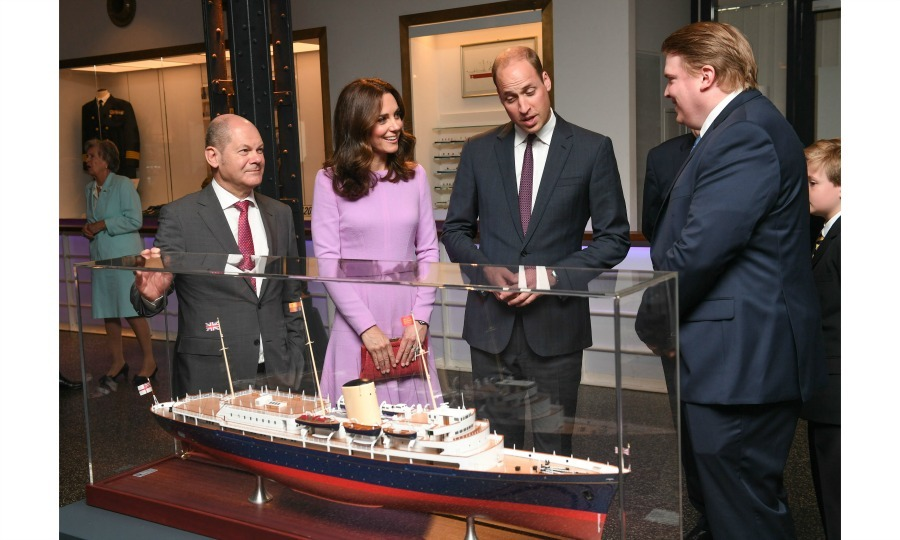 During their visit to the Maritimes Museum, William and Kate were shown a model of the royal yacht Britannia. The model, which was finished two days prior to their visit, astonished Prince William.