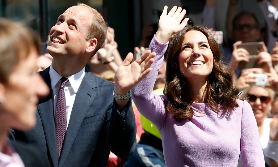 On the final day (July 21) of their royal visit of Germany, William and Kate took in the sights and the crowd outside of the Hamburg Elbphilharmonie.