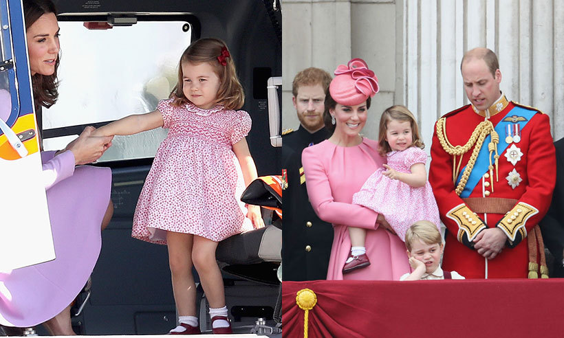 Looks like Princess Charlotte is taking a cue from her mom and repeating her outfits. The young royal wore the same dress she wore to this year's Trooping the Colour.
