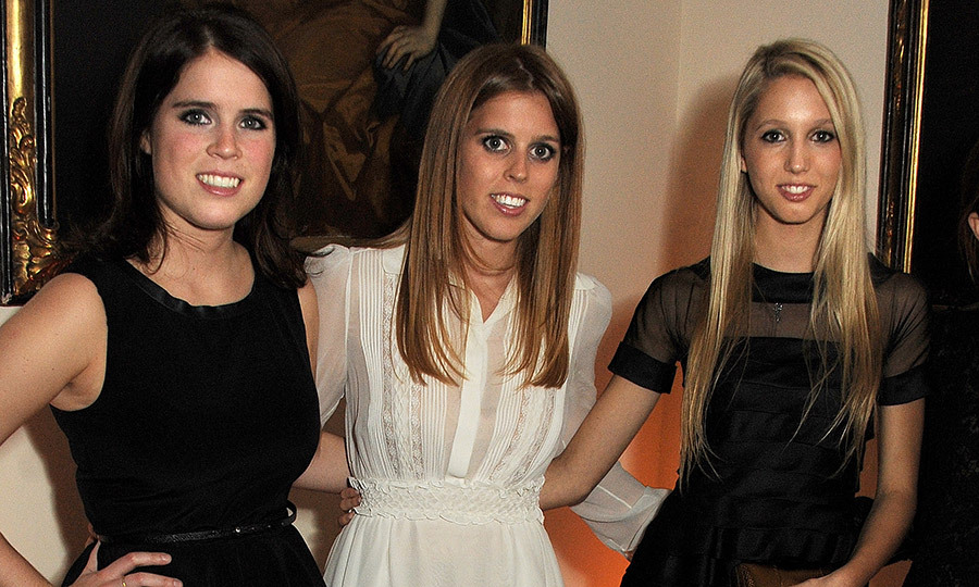 Princess Olympia's godparents include Prince Charles, Princess Alexia of Greece and Denmark and Prince Michael of Greece. Here, she's with Charles' nieces, Princess Beatrice and Princess Eugenie.