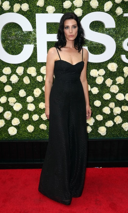 <i>Mad Men</i> alum Jessica Pare looked lovely on the CBS Television Studios' Summer Soiree carpet at CBS Studios in Studio City, California. The stunning 36-year-old stepped out for the August 1 event, wearing a floor-length dark dress that featured a sweetheart neckline.