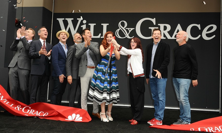 Welcome back! The team behind <i>Will & Grace</i>, including its' stars: Eric McCormack, Debra Messing, Megan Mullally and Sean Hayes, celebrated the show's highly-anticipated return with a ribbon cutting ceremony in L.A. on August 2.