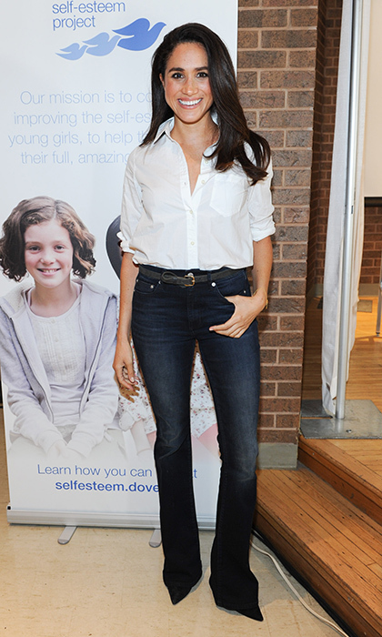 """For fall, jeans and a white blouse is pretty much my uniform,"" Meghan once told <b>HELLO!</B>.