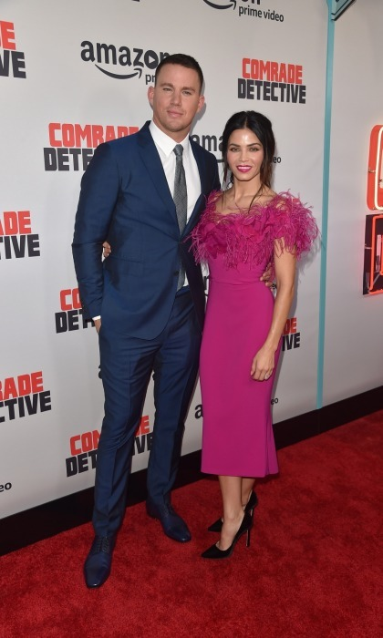 Couple carpet charm! Channing Tatum had the support of his lovely wife Jenna Dewan Tatum at the premiere of his new Amazon film, <i>Comrade Detective</i>. The pair looked stunning while walking the carpet at ArcLight Hollywood on August 3. 
