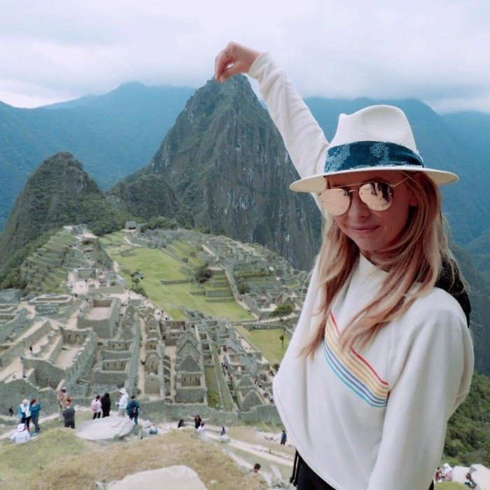 Top of the world! Sarah Michelle Gellar was in awe of the 15th century Machu Picchu citadel in Peru. Set high in the mountains, the star seemed thrilled to stop at the legendary spot during her adventures in Peru.