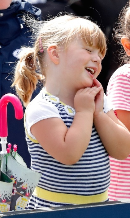 Three-year-old Mia stole the 2017 Festival of British Eventing at Gatcombe Park with her cuteness. The toddler watched on the sidelines as her mom Zara competed in the annual equestrian event. 