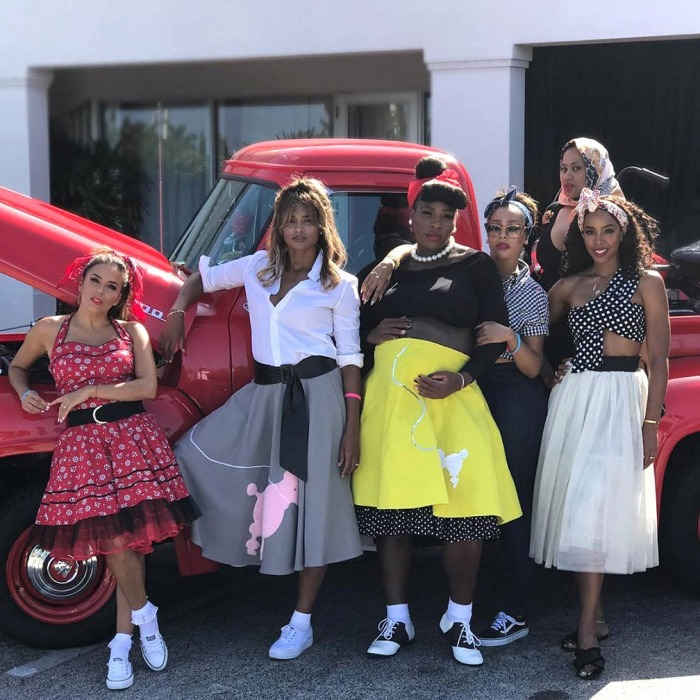 Be-bop baby! Serena Williams celebrated the upcoming birth of her first child (with fiancé Alexis Ohanian) by throwing a 1950s-themed baby shower on August 5 in West Palm Beach, Florida. The 35-year-old tennis pro was joined by famous family and friends alike, including her famed older sister Venus Williams, and celebrity pals: Eva Longoria, Ciara, Lala Anthony, and Kelly Rowland.