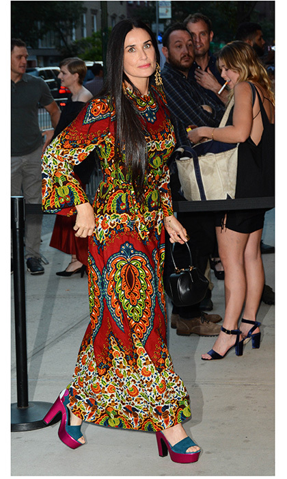 Demi Moore was head-to-toe hippie chic on August 8 in the Big Apple. 