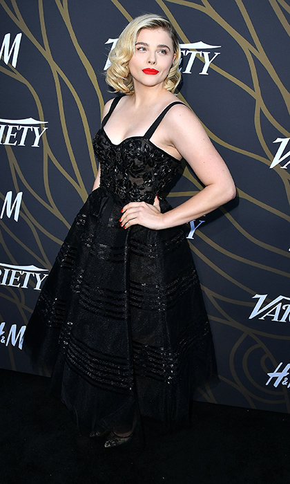 Chloe Grace Moretz gave the Variety Power of Young Hollywood a taste of old Hollywood in a 1950s look by Marchesa at TAO in L.A. on August 8. 