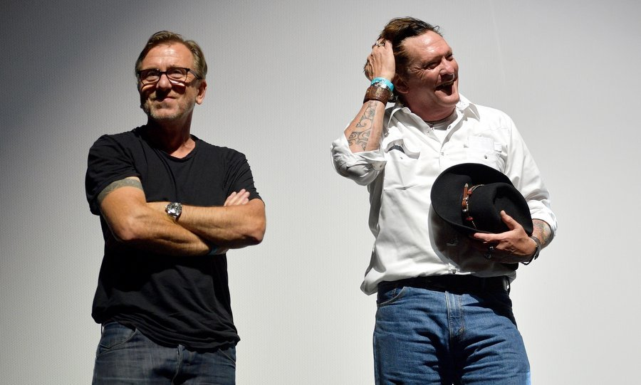 It was a <I>Reservoir Dogs</I> and <I>Pulp Fiction</I> reunion as Tim Roth and Michael Madsen teamed up on stage at Sundance NEXT FEST After Dark at The Ace Hotel on August 10. 