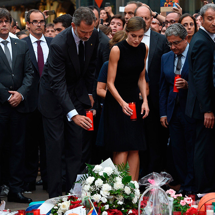 A day earlier the Spanish king and queen placed candles and a bouquet of white flowers at the site a memorial for victims located on Las Ramblas boulevard, where the Barcelona attack had taken place.