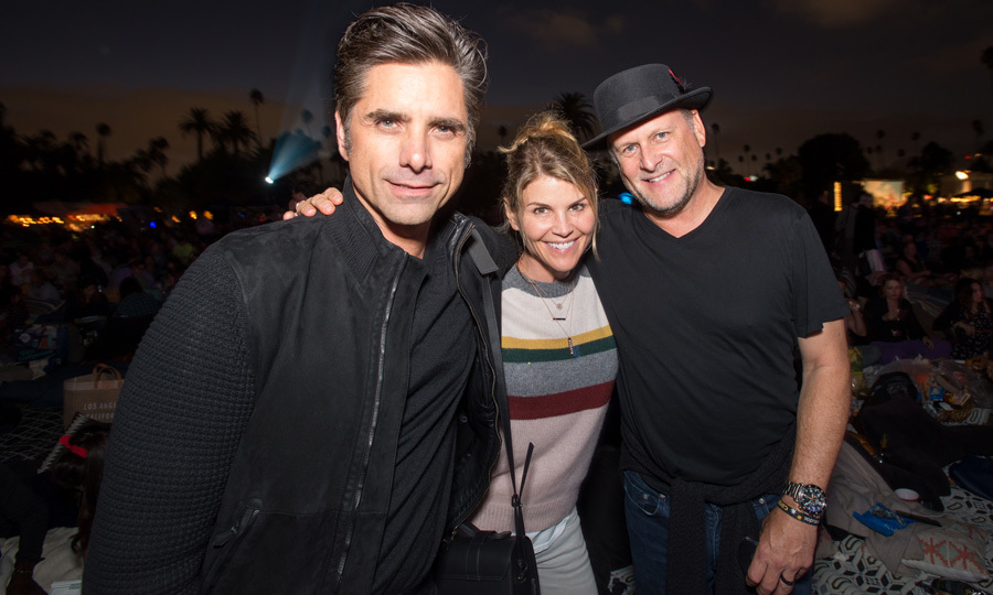 John Stamos celebrated his 54th birthday with <i>Fuller House</i> co-stars Lori Loughlin and Dave Coulier at Cinespia's screening of <i>Some Like It Hot</i> on August 19.