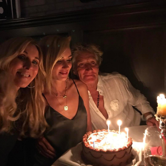 "Kimberly Stewart was joined by her parents Alana and Sir Rod for her birthday celebration on August 21. She took to Instagram to share the moment and wrote the caption, ""These two cool kids created me @alanakstewart @sirrodstewart.""
