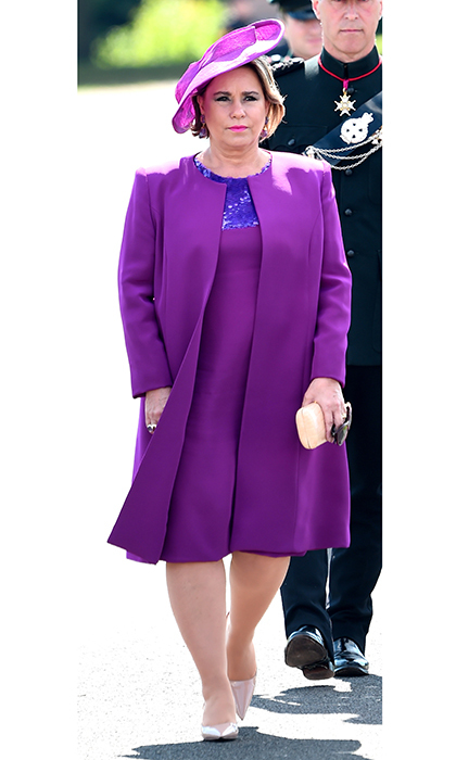 Also opting for head to toe color was Grand Duchess Maria Teresa of Luxembourg, whose son Prince Sebastien was also a cadet in the Sandhurst training course.