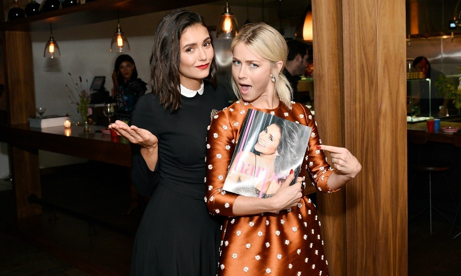 Friends forever! Nina Dobrev had her best girl Julianne Hough on hand to celebrate her harper by Harper's Bazaar September issue during an event presented by Sephora in L.A. on August 22.