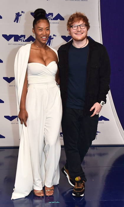 Ed Sheeran and Jennie Pegouskie 