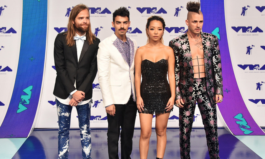 DNCE - Jack Lawless, Joe Jonas, JinJoo Lee and Cole Whittle 