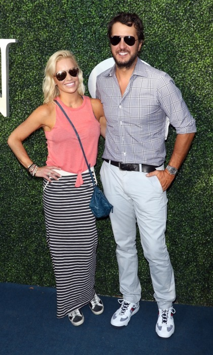 Luke Bryan took a break from his tour to bring his wife Caroline out to the US event.