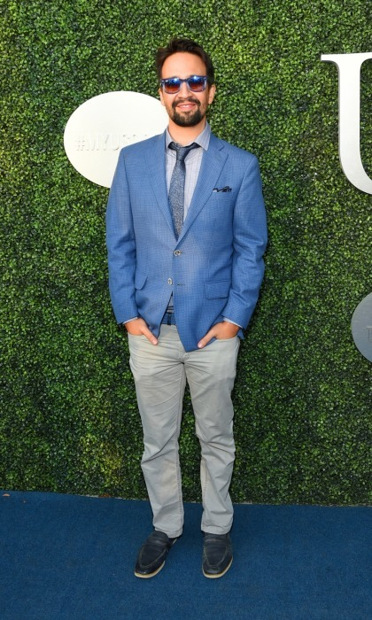 Lin Manuel-Miranda looked suave at the gala in a shiny blue blazer. 