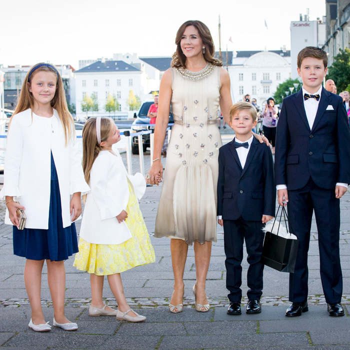 Crown Princess Mary dazzled in an embellished dress alongside her four children — Princess Isabella, Princess Josephine, Prince Vincent and Prince Christian — at the 18th birthday celebration of her nephew Prince Nikolai in Copenhagen, Denmark. 