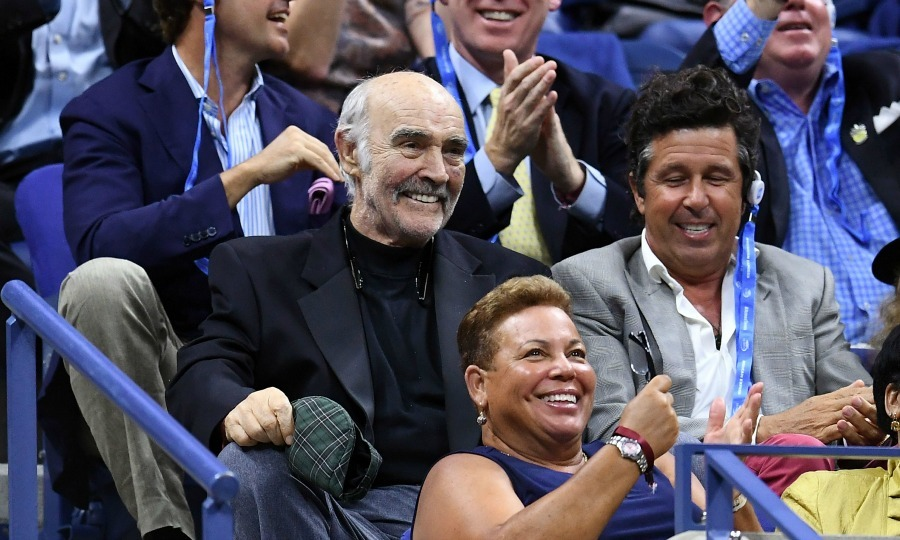 In a rare public appearance, Sean Connery stepped out to watch the 2017 US Open Men's Singles match between Frances Tiafoe and Roger Federer.