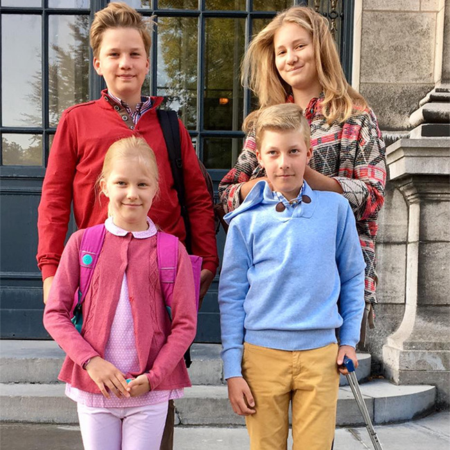 <b>Princess Elisabeth, Prince Gabriel, Prince Emmanuel and Princess Eleonore</b>