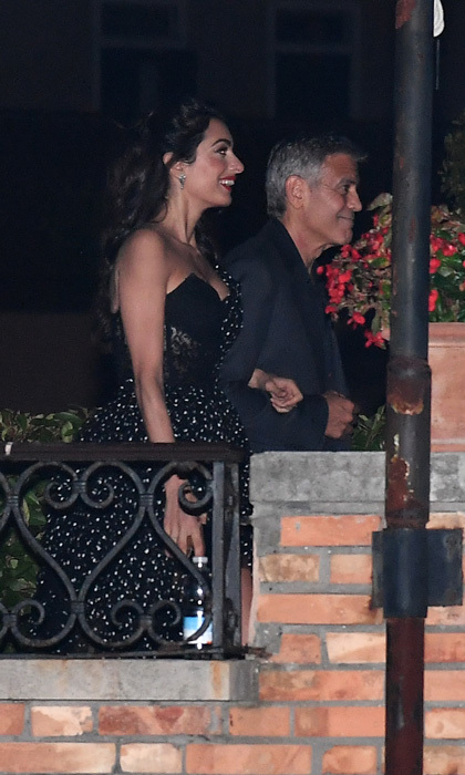 New parents George Clooney and Amal Clooney returned to the city where they tied the knot in 2014, Venice! Ella and Alexander's parents were spotted leaving Hotel Cipriani during the film festival on August 31.