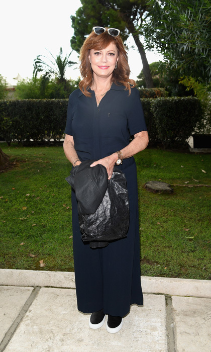 Susan Sarandon went casual chic to the Hollywood Foreign Press Association's cocktail party at the film festival.